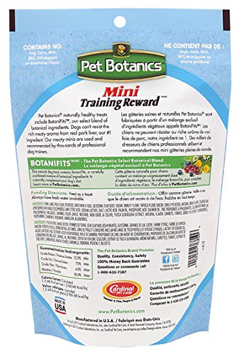 Pet Botanics 10 Oz Training Reward Bacon Treats For Dogs, Mini