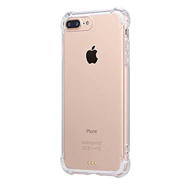 JEPER® Funda iPhone 7 Carcasa Silicona Transparente Protector TPU Airbag Anti-Choque Ultra-Delgado Anti-arañazos Case para Apple iPhone 7 Caso Caja