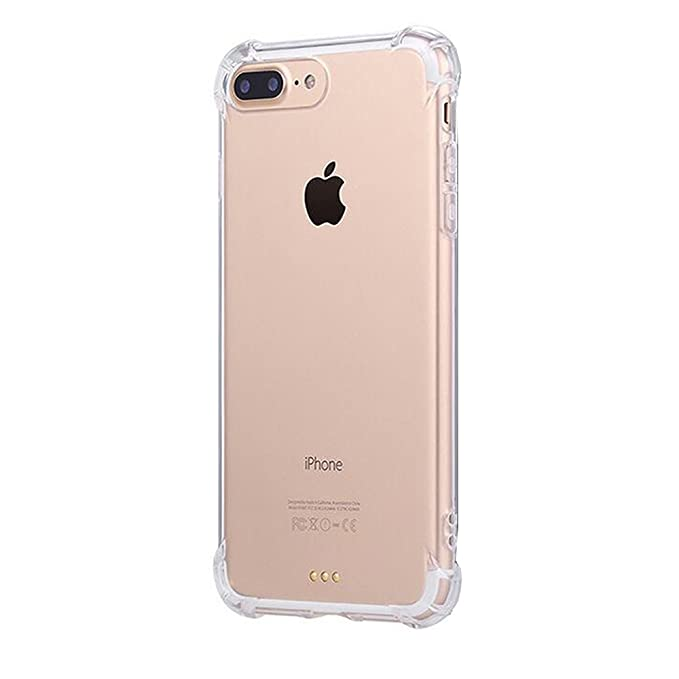 40cafc20964 JEPER® Funda iPhone 7 Carcasa Silicona Transparente Protector TPU Airbag  Anti-Choque Ultra-Delgado Anti-arañazos Case para Apple iPhone 7 Caso Caja:  ...