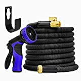 NEW World's Strongest 50ft Expandable Garden Hose with Burst Proof Inner Tube Heavy Duty Expandable Hose Garden Hose Expanding Hose Flexible Hose Water Hose Best Expanding Garden Hose Set - UPGRADED