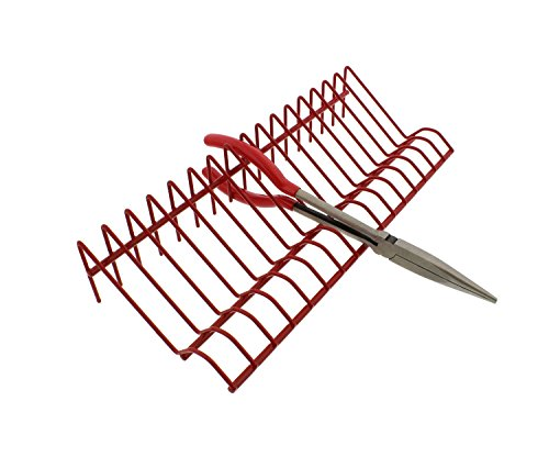 ABN Heavy-Duty Metal Multi Tool Holder Organizer Tray Rack in Red for 16 Pliers and Other Hand Tools Storage by ABN