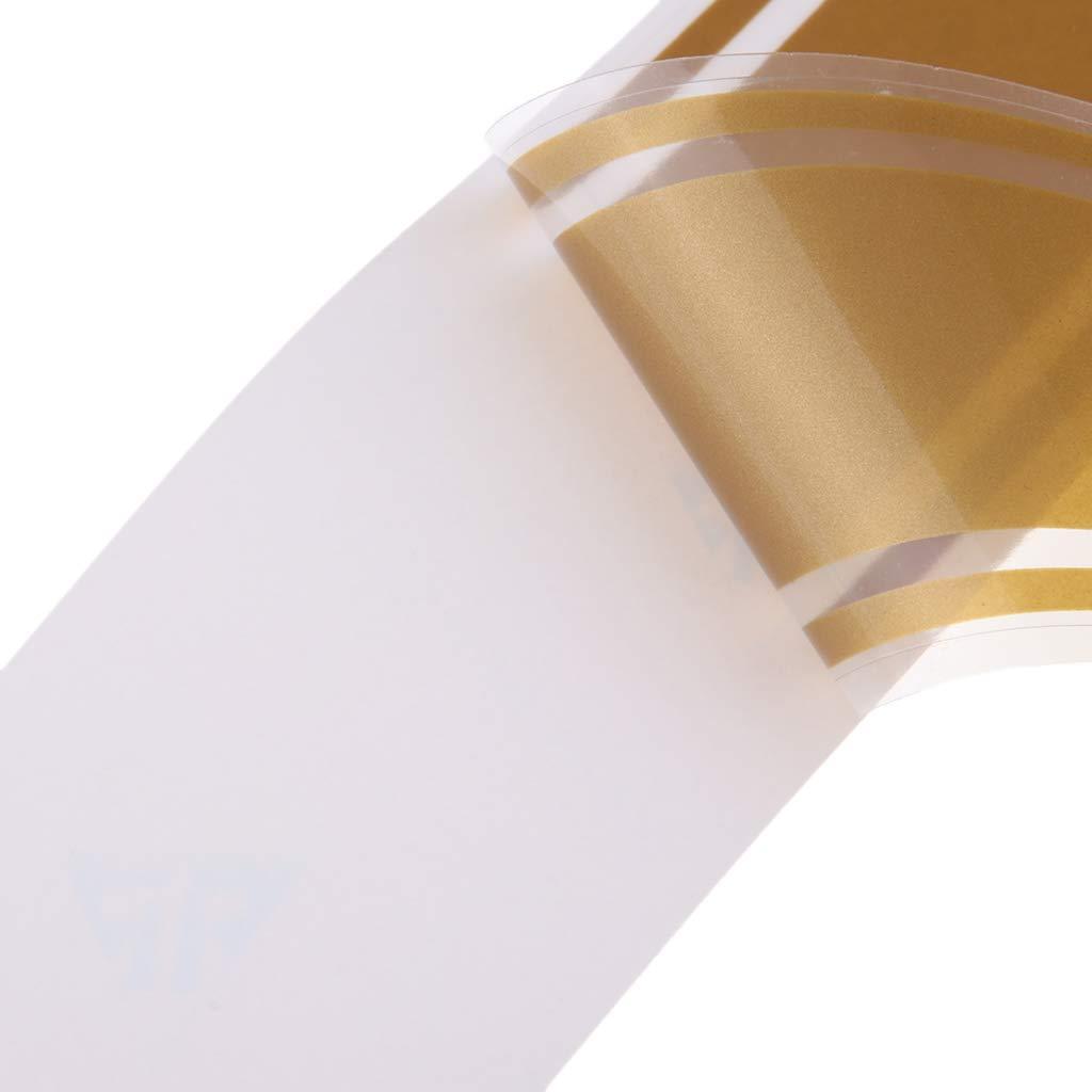 2x Motorcycles Tank Fairing Hood Vinyl Vinyl Stripes Sticker For Cafe Racer Gold Red