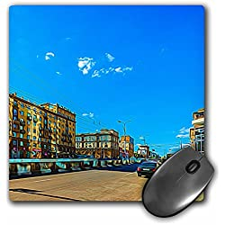 3dRose Alexis Photo-Art - Moscow City 2 - Moscow city art. Blue sky over the Garden Ring avenue - MousePad (mp_273030_1)