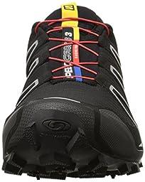Salomon Men\'s Speedcross 3 Trail Running Shoe,Black/Black/Silver Metallic-X,11 M US