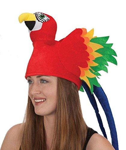 [Parrot Head Hat Animal Bird Pirate Party Costume Accessory Headwear] (Parrot Head Hat)
