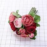 BESTOYARD-10pcs-Artificial-Flowers-Camellia-Bridal-Wedding-Bouquet-Bridesmaid-Bride-Toss-Bouquet-Home-Decoration-Wine-Pink
