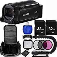 Canon 32GB VIXIA HF R72 Full HD Camcorder Bundle with Carrying Case and Accessory Kit (11 Items)