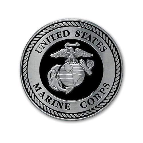 USMC 메달-2 인치-검은 색과 은색 해병대 EGA 독수리 글로브 앵커 자동차 엠블럼