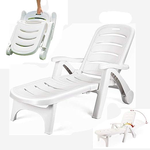 Clothes Polipropileno Blanco plástico tumbonas - Muebles con Estilo y Duradero for su jardín/Ocio al Aire Libre Plegable luz de la Piscina Tumbona/Silla de Playa Junto al mar Piscina del Hotel: Amazon.es: