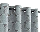 ITEXTILOGIE Blackout Grommet Print Curtains Bedroom|Room Darkening Thermal Insulated Curtain Noise Reducing Panels Window Draperies living room(2 Panels,53 x 84 inch Each Panel,Leaf)