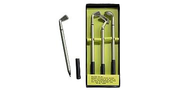 Bolígrafos con forma de palos de golf en miniatura: Amazon ...