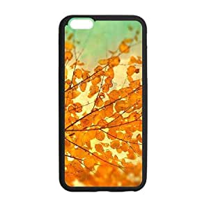 Fall Leaves Tango Tangerine Case for Iphone 5/5s,Red