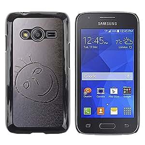 TopCaseStore / la caja del caucho duro de la cubierta de protección de la piel - Snow Smiley - Samsung Galaxy Ace 4 G313 SM-G313F