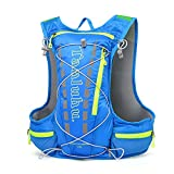 TANLUHU Breathable Vest Bag, NACATIN Water-Resistant and Lightweight Hydration Vest Backpack 15L Capacity, Adjustable Shoulder Straps for Running Cycling Hiking Climbing (BLUE) For Sale