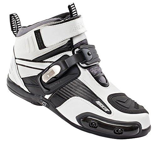 (Joe Rocket Atomic Men's Motorcycle Riding Boots/Shoes (White/Black, Size 8))
