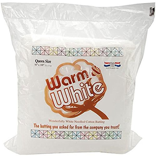 Warm & White Cotton Batting-Queen Size 90