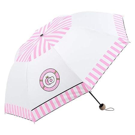 DWLXSH Paraguas Compacto Lluvia Viento Paraguas Plegable ...