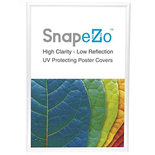 "SnapeZo Poster Frame 24x30 Inch, White 1"" Aluminum Profile,"