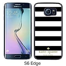 Kate Spade Black Samsung Galaxy S6 Edge Screen Cover Case Luxurious and Fashion Design