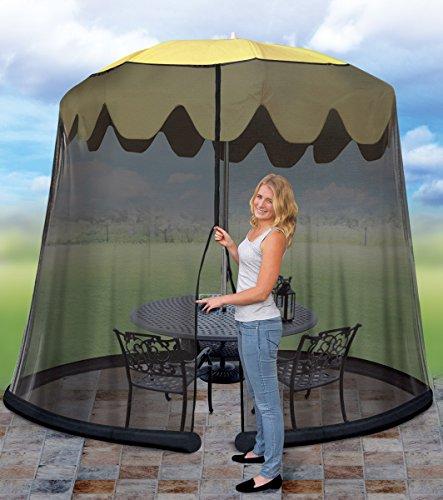 Garden Creations JB5678 Outdoor 9-Foot Umbrella Table Screen, Black Garden, Lawn, Supply, Maintenance Height Umbrella Table Mesh Top