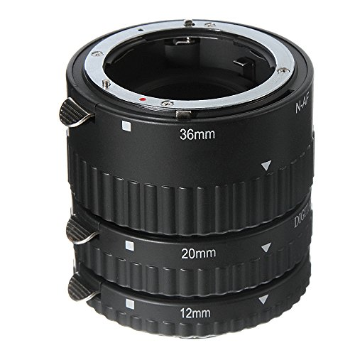 Hersmay Auto Focus Macro Extension Tubes (12mm 20mm 36mm) for Nikon D7500 D7200 D7100 D7000 D5600 D5300 D5200 D5100 D5000 D3100 D3000 D800 D600 D300s D300 D90 D80 Digital SLR Cameras -