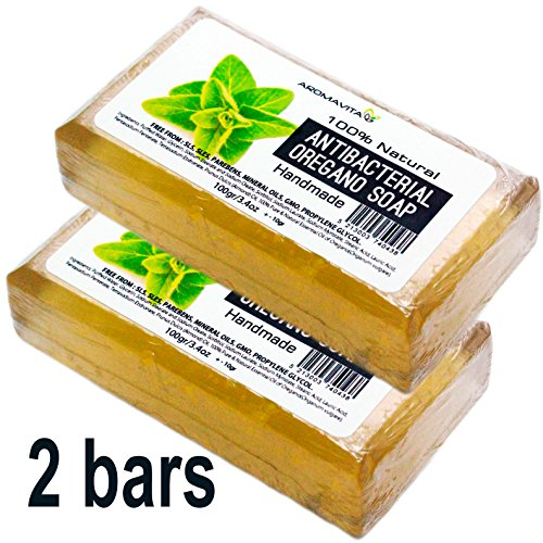 Ichthammol Salve (Antibacterial Oregano Oil Soap, Natural Soap For Athletes Foot, Jock Itch And Odors, Helps Cleanse the Skin, Nail Fungus, Ringworm, Acne and Other Unwanted Skin Irritations (2 Pack))