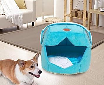 Infinitamente gran decoración del hogar centro cama mascota cálido algodón perro casa espacio casco sombrero forma