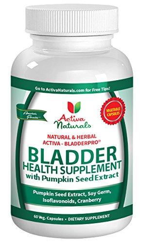 Activa Naturals Bladder Supplement for Men and Women with Natural Herbs as Pumpkin Seeds & Cranberry Vitamins & Supplements - 60 Veg. Pills