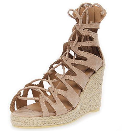 Sandaalit Muoti Naisten Ae 7 Beige Aw0E5x5qd