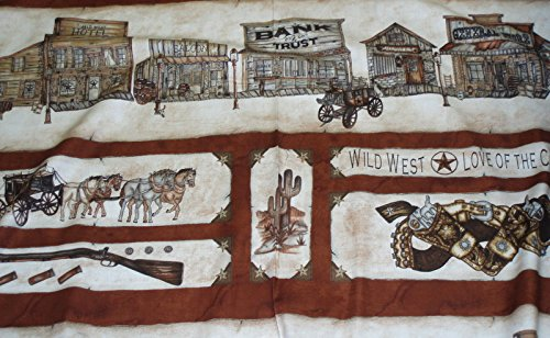 Cowboy Panels - Western Album II wild west cowboy panel fabric