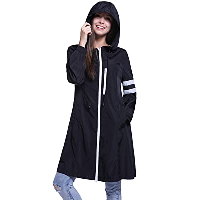 Fancyqube Women's Lightweight Packable Outdoor Hooded Windproof Jacket Waterproof Coat Windbreaker: Clothing