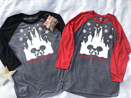 Handmade Christmas Family Disney world shirts, Snowflake Castle with Christmas 2018 below, Disney Family Shirts, Matching Family Disney Shirts, Personalized Disney Shirts for Family]()