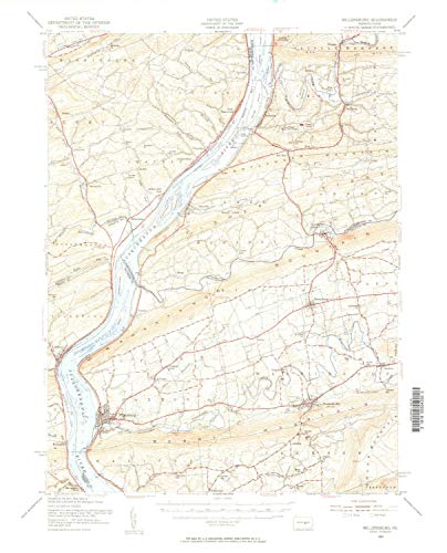 - YellowMaps Millersburg PA topo map, 1:62500 Scale, 15 X 15 Minute, Historical, 1953, Updated 1956, 21.1 x 17 in - Tyvek