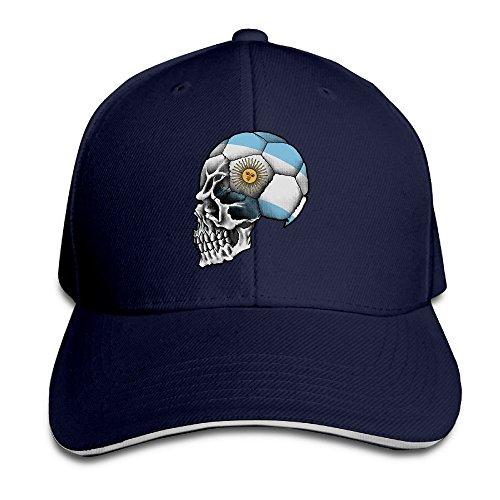 MaNeg Argentina Soccer Skull Sandwich Peaked Hat & - Prada Store Texas