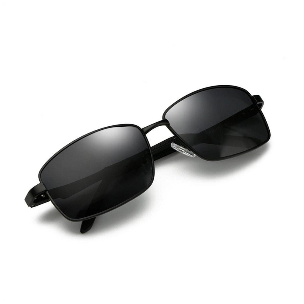 5221a65c471 Polarized Sunglasses for Men Driving Fishing Mens Sunglasses Rectangular Metal  Frame 100% UV Protection