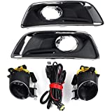 Car Light Assembly - H11 Fog Light And Cover For Chevy Malibu 2012 2013 2014 2015 Car Foglight Front Lower Bumper Grill…