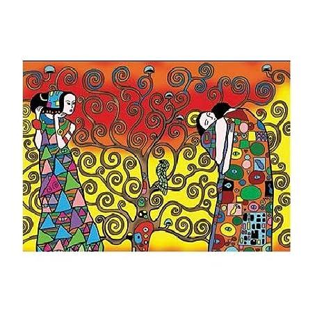 Colorvelvet La1 Klimt L Albero Della Vita Disegno 47 X 35 Cm