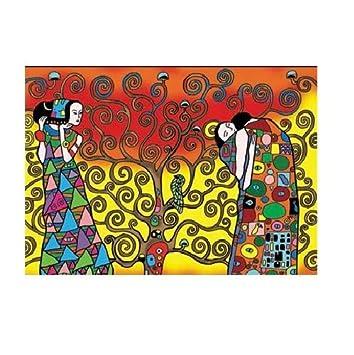 Colorvelvet Dibujo Klimt El Arbol De La Vida 47 X 35 La1