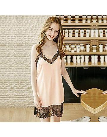 Sleepwear Casual Camicia da Notte di Seta della Camicia da Notte Sexy della  Biancheria Intima del 3afc00e5e0a