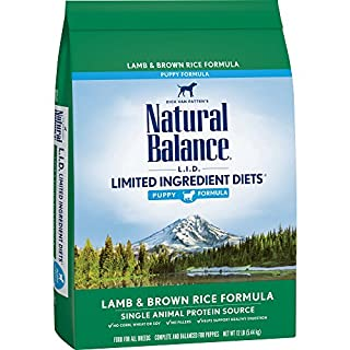 Natural Balance L.I.D. Limited Ingredient Diets Dry Dog Food for Puppies, Lamb & Brown Rice Formula, 12 Pounds