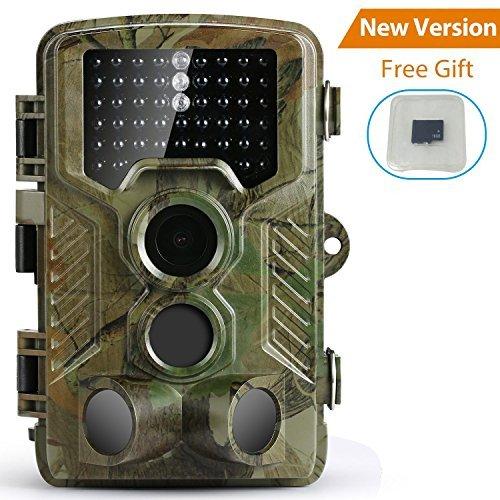 PengRH Trail Game Camera, Wildlife Hunting Camera Hunting Game Camera1080P 120 PIR Sensor 2.4 LCD Scouting Camera, 0.2s Trigger Time, IP56 Waterproof, 16GB Memory Card