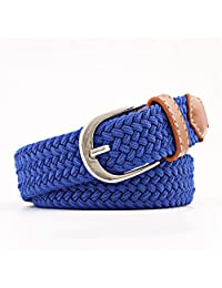 Dertring Braided Belt,Canvas Elastic Stretch Wide Wild Woven Wide Belt (Color : A, Size : M)