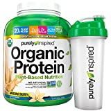 Purely Inspired Organic Protein Powder Plus Shaker Cup, French Vanilla, 4 Pound