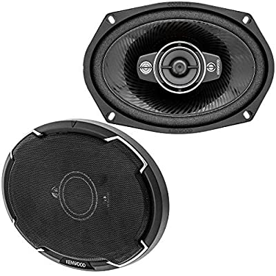 Kenwood KFC-6986PS 6 x 9 Inch 400W 3-Way Car Audio Flush Mount Coaxial Stereo Speakers, Pair: Car Electronics