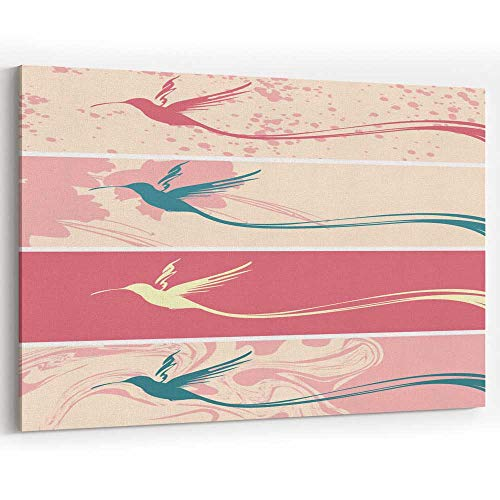 Actorstion Set of Banners with Hummingbird Silhouette 073995 Canvas Art Wall Dector,36