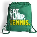 Eat. Sleep. Tennis. Cinch Sack | Tennis Bags by ChalkTalk SPORTS | Kelly Green For Sale