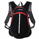 Bike Backpack Lixada 15L Bicycle Shoulder Backpack Waterproof Breathable Rucksack for Outdoor Travel Riding Hiking Mountaineering Climbing with Rain Cover