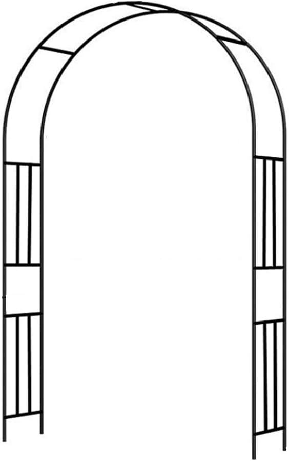 HYZDY Thicken Metal Garden Arch, Rose Arch, Metal Pergola Arbor, Decorative Steel Garden Arch Arbor Trellis for Climbing Plants and Wire Lattice
