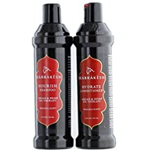 Marrakesh Original Shampoo + Conditioner Combo Set with Hemp and Argan Oils, 12 Ounce Each, Suitable for Both Men and Women