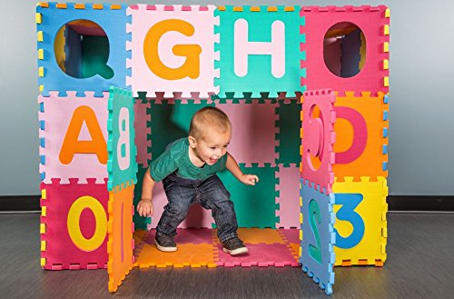 Mats Alphabet (IncStores Medium 64 Piece ABC-123 Interlocking Foam Playmat)
